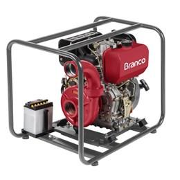 Motobomba à Diesel BD815 10 CV Partida Elétrica Centrífuga Branco