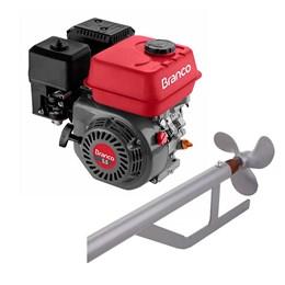 Motor á Gasolina 4t 5,5cv Com Rabeta de Barco Curta 150cm - Branco Motores