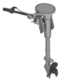 Motor de Barco 6Cv 196cc Partida Manual com Rabeta Vertical
