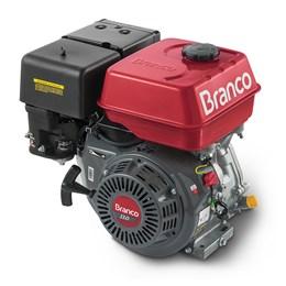 Motor Horizontal 13cv B4T Gasolina e Partida Eletrica Branco