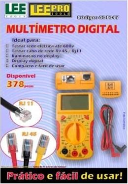 Multímetro Digital com Teste de Rede DT68D Lee Tools