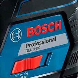 Nível a Laser Automático Bosch GLL 3-80 P com Base Magnética Alcance 40m