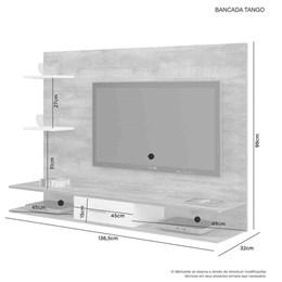 Painel Bancada Tango para TV até 42Pol Candian Nobre E Branco - JCM Movelaria