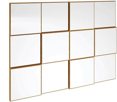 Painel Decorativo Quadriculado 100 Cm P/ Aparador Freijo C/ Espelho