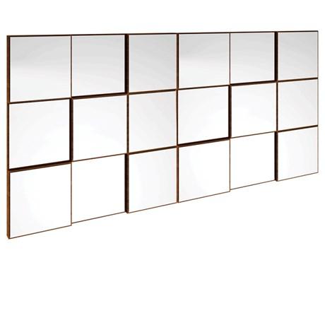 Painel Decorativo Quadriculado 150 Cm P/ Aparador Nobre C/ Espelho