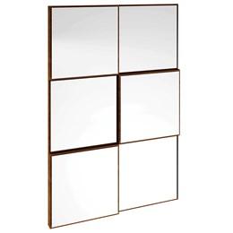 Painel Decorativo Quadriculado 3D Nobre Espelho - Dalla Costa