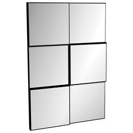 Painel Decorativo Quadriculado 3D Preto Brilho Espelho - Dalla Costa