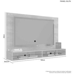 Painel Iolita para TV até 47Pol Candian Branco - JCM Movelaria