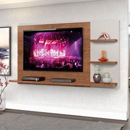"""Painel New Clean  160cm P/TV até 49"""" Natural/Off White - Zanzini"""