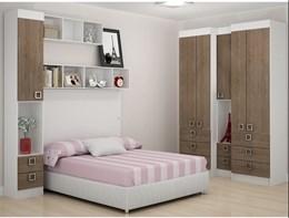 Painel para cama Casal buri 35400 Branco textura - Palmeira Móveis
