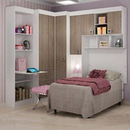 Painel para cama solteiro buri 35400 branco textura - Palmeira Móveis