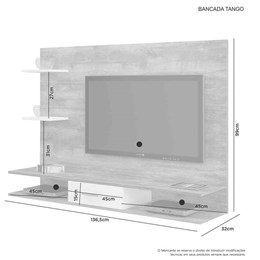Painel para TV até 42 Polegadas Tango Branco - JCM Móveis
