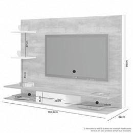 Painel para TV até 42 Polegadas Tango Nobre Soft/Branco - JCM Móveis