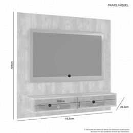 Painel para TV até 47 Polegadas Niquel Cacau - JCM Móveis