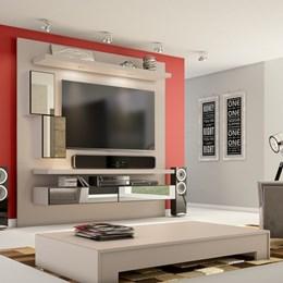 Painel para TV até 50 Polegadas com LED e Nichos 100% MDF - Dalla Costa