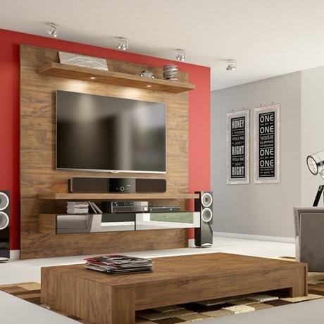 Painel para TV até 50 Polegadas TB107 com LED e Espelho 100% MDF - Dalla Costa