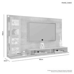Painel para TV até 60 Polegadas Sabiá Branco - JCM Móveis