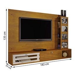 Painel Para TV até 65 polegadas Frisare Caramelo/Off White Chf Móveis