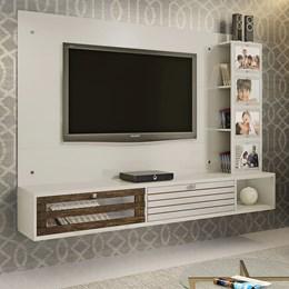 Painel Para TV até 65 polegadas Frisare Off White/Ypê Chf Móveis