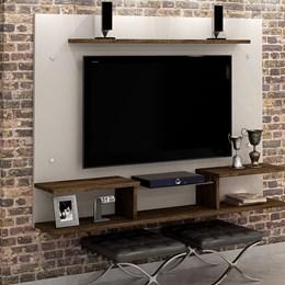 Painel para TV até 65 Polegadas Itaparica Off White/Imbuia - CHF Móveis