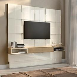 Painel para TV Até 75 Polegadas TB126 Off White/Carvalho - Dalla Costa