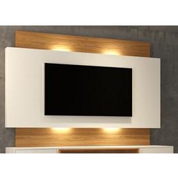Painel Para TV Com Led Off White Freijó - Dalla Costa