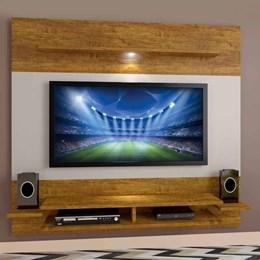 Painel para TV Mavaular Mel/Off White  - Mavaular Móveis