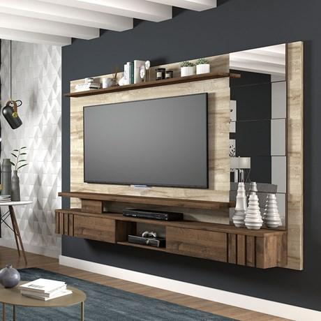 Painel Para Tv Murano Rústico/cafe - Permobili