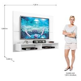 Painel Para Tv Slim Até 49 Polegadas Branco Ártico - Zanzini