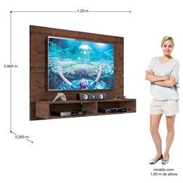 Painel Para Tv Slim Até 49 Polegadas Jacarandá - Zanzini