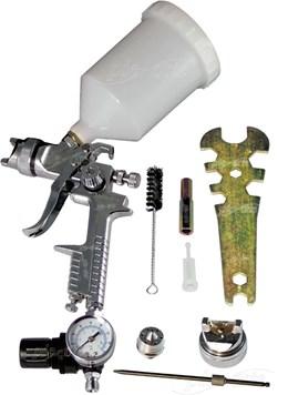 Pistola de Pintura HVLP com Manômetro e Bicos 1.4 e 1.7mm SH