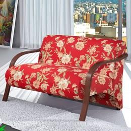 Poltrona Decorativa Adele 2 Lugares com Braço em Madeira