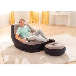Poltrona Inflável Ultra Lounge com Pufe - Intex