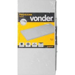 Prateleira com suporte invisível, 40 cm x 20 cm, branca, VONDER 61.76.402.001