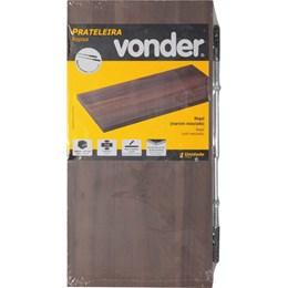 Prateleira com suporte invisível, 40 cm x 20 cm, nogal VONDER 61.76.402.002
