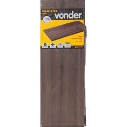 Prateleira com suporte invisível, 60 cm x 20 cm nogal VONDER 61.76.602.002