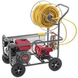 Pulverizador Estacionário 30-45L/min com Motor e Carrinho de Transporte - Branco Motores