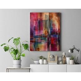 Quadro Decorativo 40x60cm Abstrato Linhas e Curvas