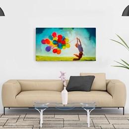 Quadro Decorativo 40x70cm Balões