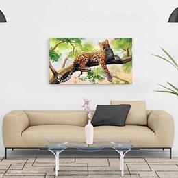 Quadro Decorativo 40x70cm Leopardo
