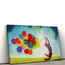 Quadro Decorativo 50x90cm Balões