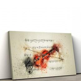 Quadro Decorativo 50x90cm Violino