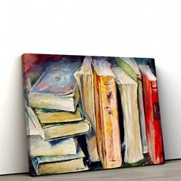 Quadro Decorativo 60x90cm Livros