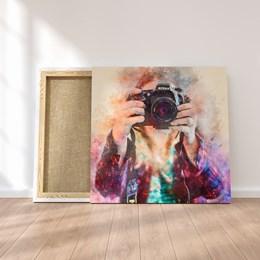 Quadro Decorativo 90x90cm Fotógrafo
