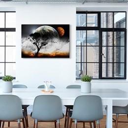 Quadro Decorativo Abstrato Grande Luar 60x90cm Sala Quarto