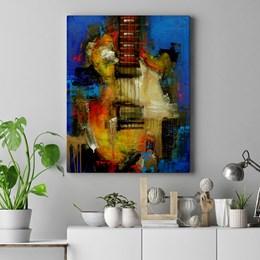 Quadro Decorativo Abstrato Guitarra 60x90cm Sala ou Quarto