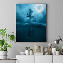 Quadro Decorativo Abstrato O Pescador 60x90cm Sala Quarto