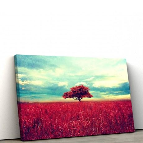 f9cbbf8d2 Quadro Decorativo Árvore Vermelha 100x50cm Sala ou Quarto ...