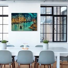 Quadro Decorativo Canal de Veneza 60x90cm Sala ou Quarto