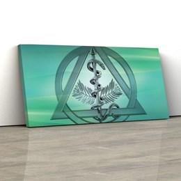 Quadro Decorativo Dentista Símbolo Odontologia 150x70cm